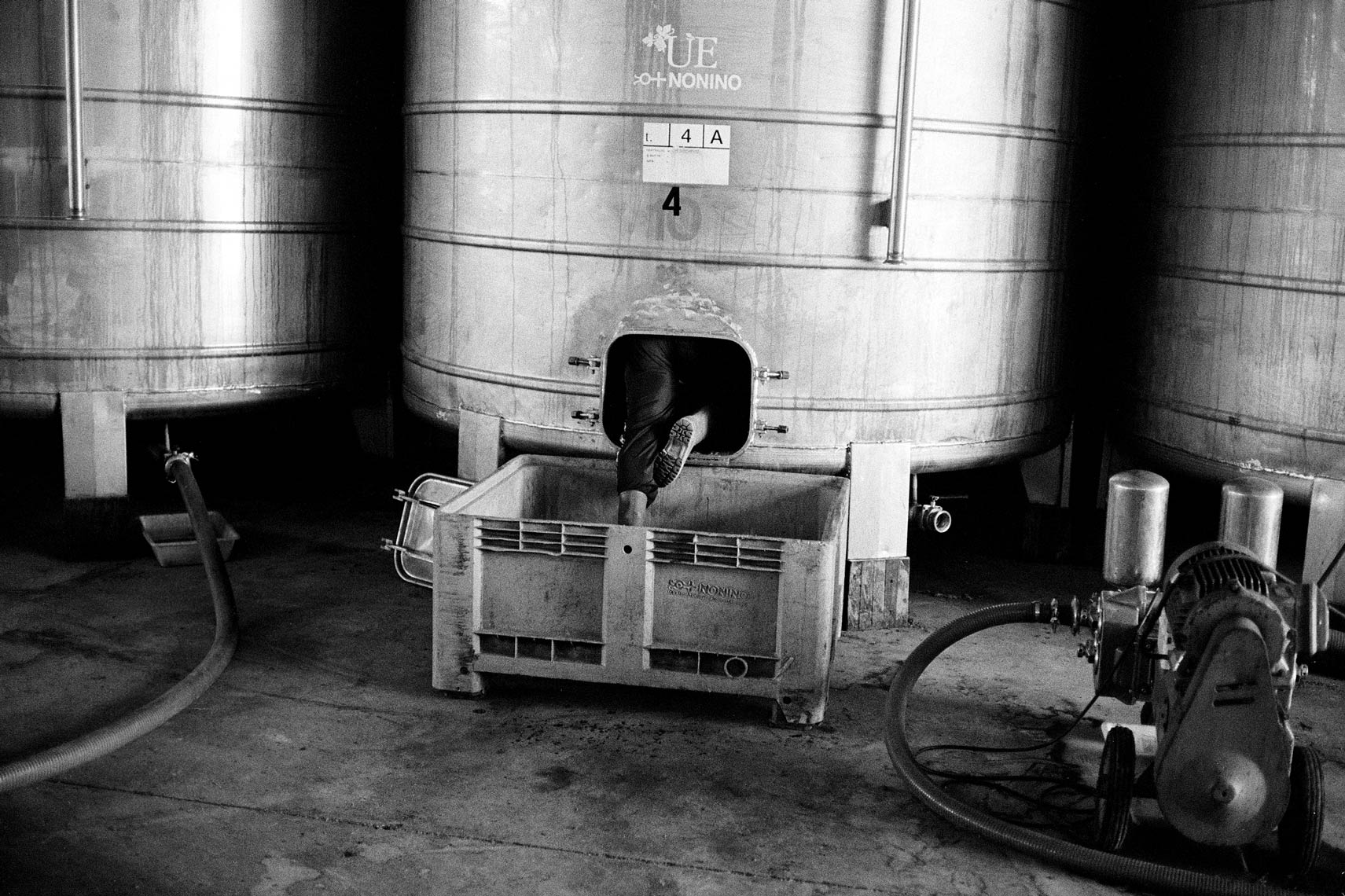 Vat in distillery, Italy